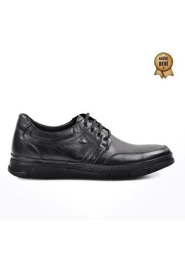 Dr.Flexer 311032 Siyah Erkek Hakiki Deri Günlük Ayakkabı Siyah
